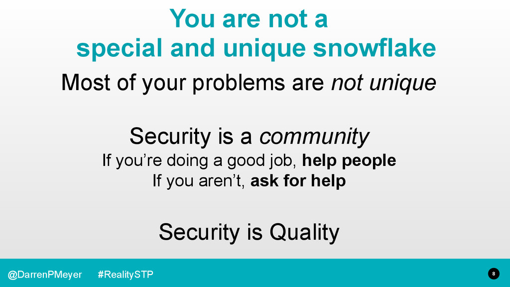 8 @DarrenPMeyer #RealitySTP Most of your proble...