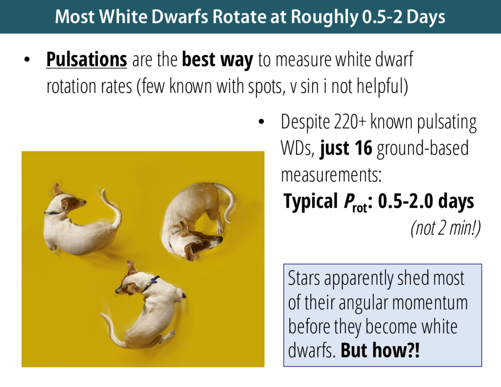 • Despite 220+ known pulsating WDs, just 16 gro...