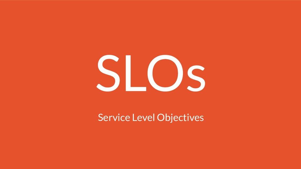 SLOs Service Level Objectives