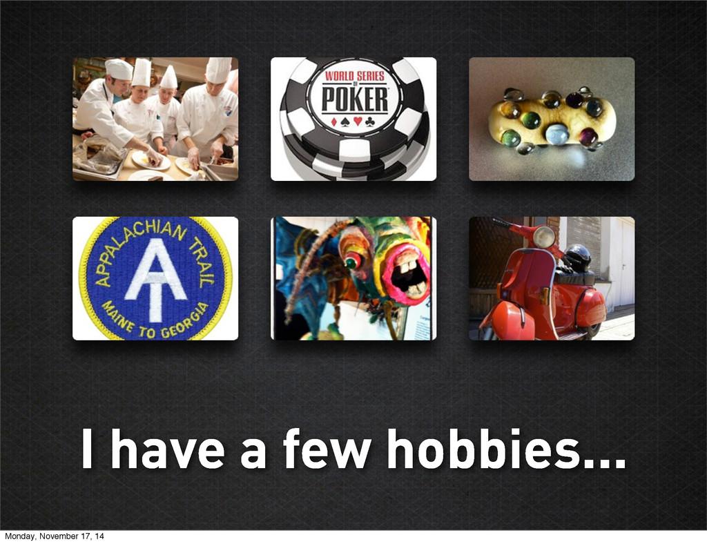 I have a few hobbies... Monday, November 17, 14
