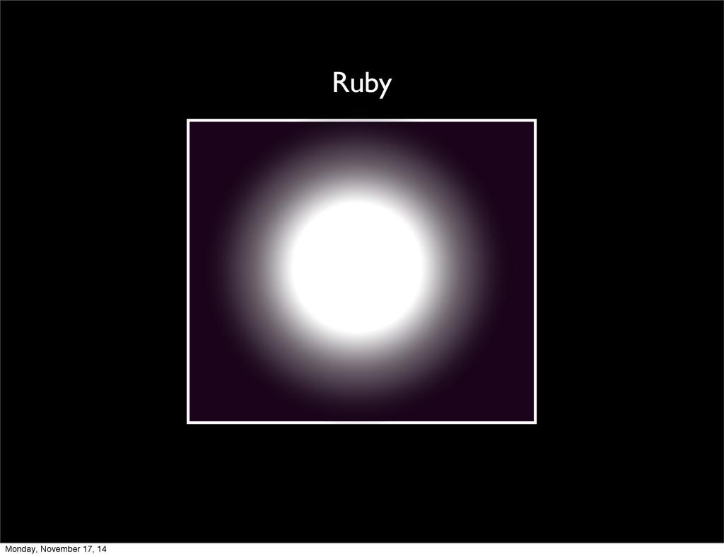 Ruby Monday, November 17, 14