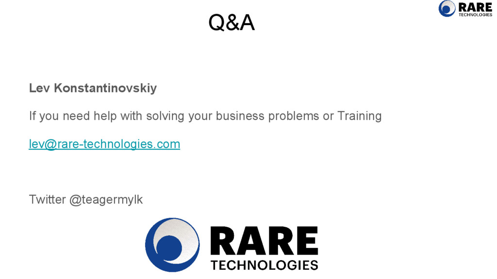 Q&A Lev Konstantinovskiy If you need help with ...