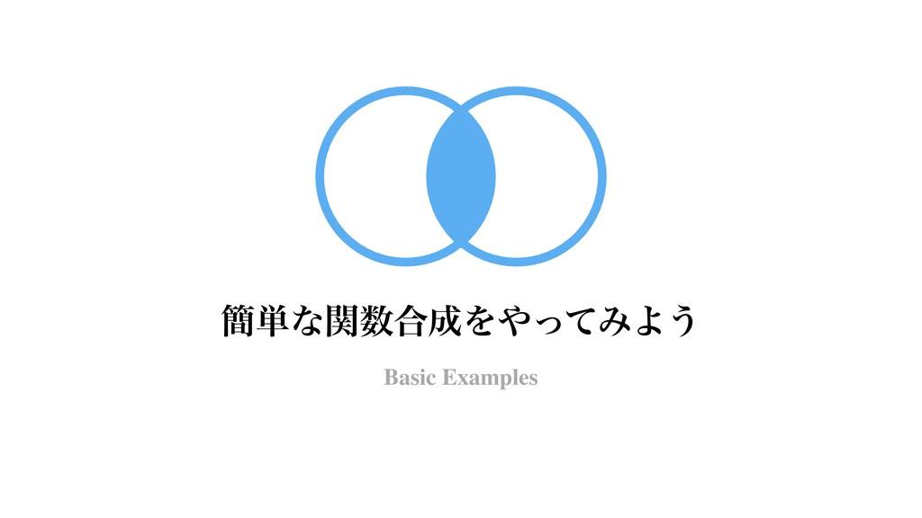 ؆୯ͳؔ߹ΛͬͯΈΑ͏ Basic Examples