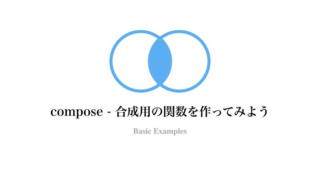 DPNQPTF߹༻ͷؔΛ࡞ͬͯΈΑ͏ Basic Examples