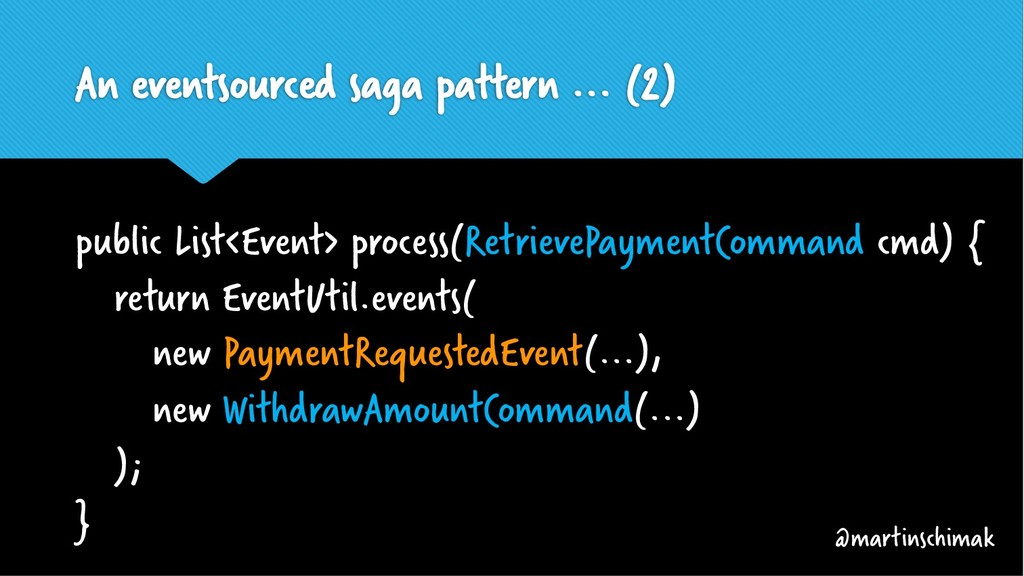 An eventsourced saga pattern ... (2) public Lis...