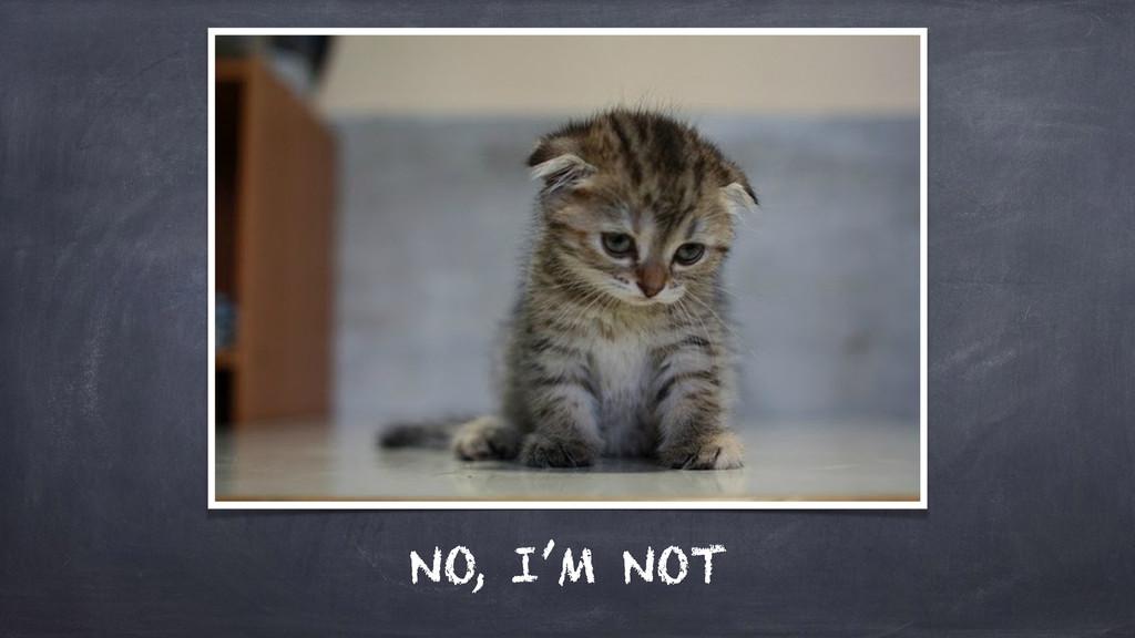NO, I'M NOT