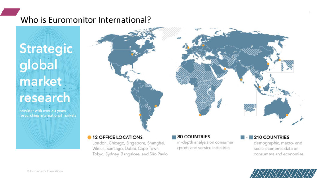 © Euromonitor International 4 Who is Euromonito...