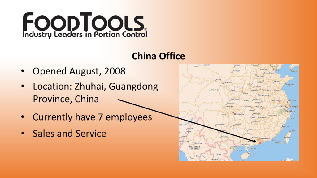 China Office • Opened August, 2008 • Location: ...
