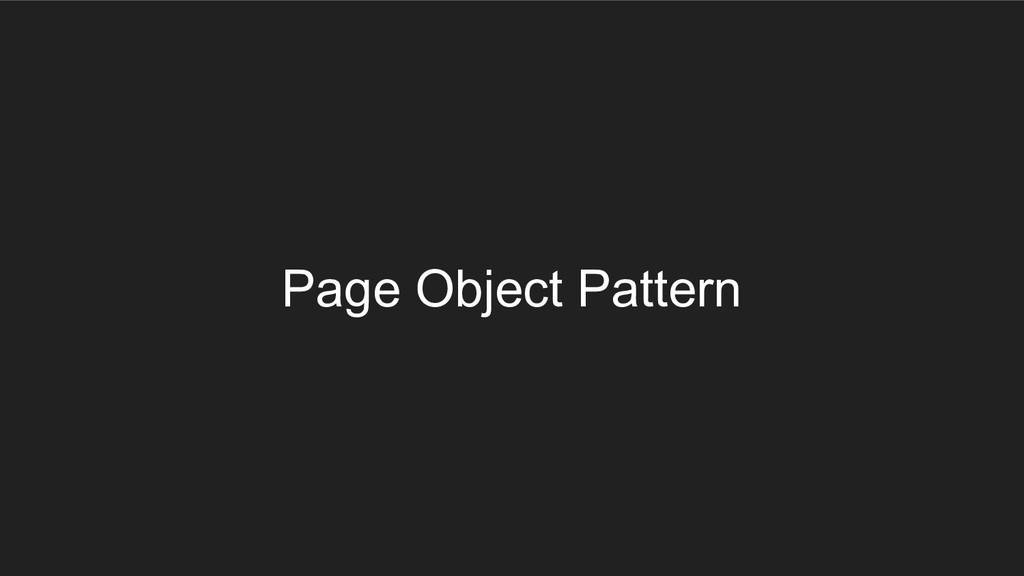 Page Object Pattern