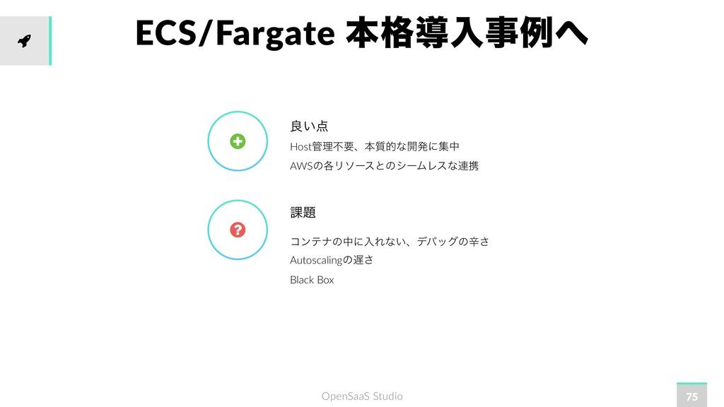 OpenSaaS Studio ECS/Fargate ຊ֨ಋೖྫ 75 Hostཧෆཁ...