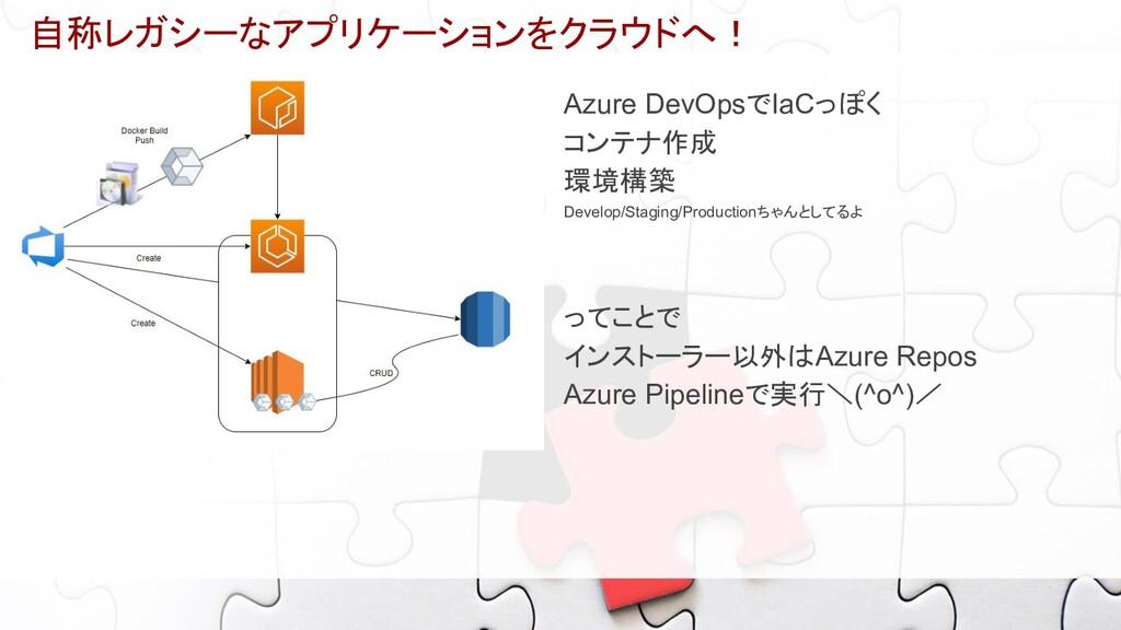 自称レガシーなアプリケーションをクラウドへ! Azure DevOpsでIaCっぽく コンテナ...