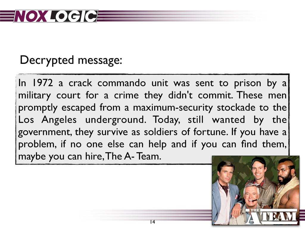 In 1972 a crack commando unit was sent to priso...