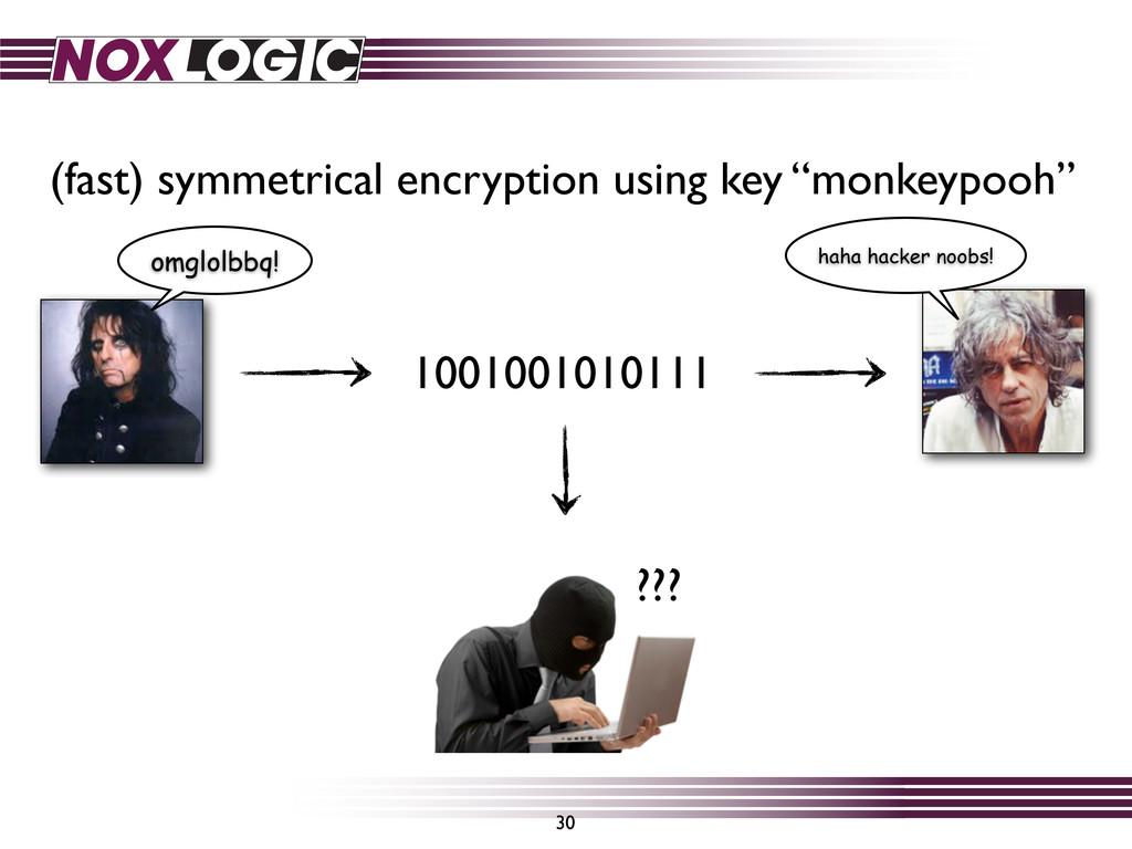 30 ??? (fast) symmetrical encryption using key ...