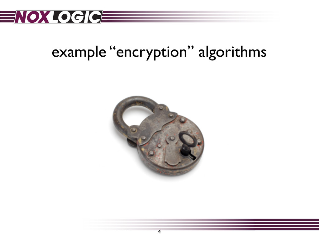 "example ""encryption"" algorithms 4 http://www.fli..."