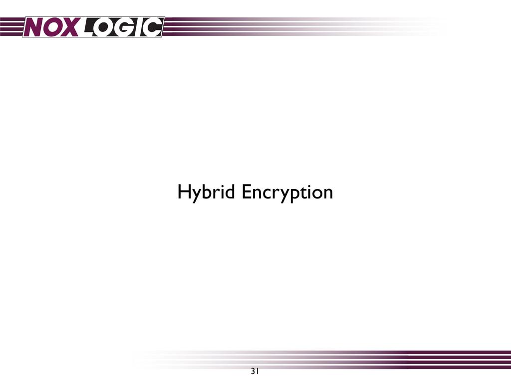 31 Hybrid Encryption