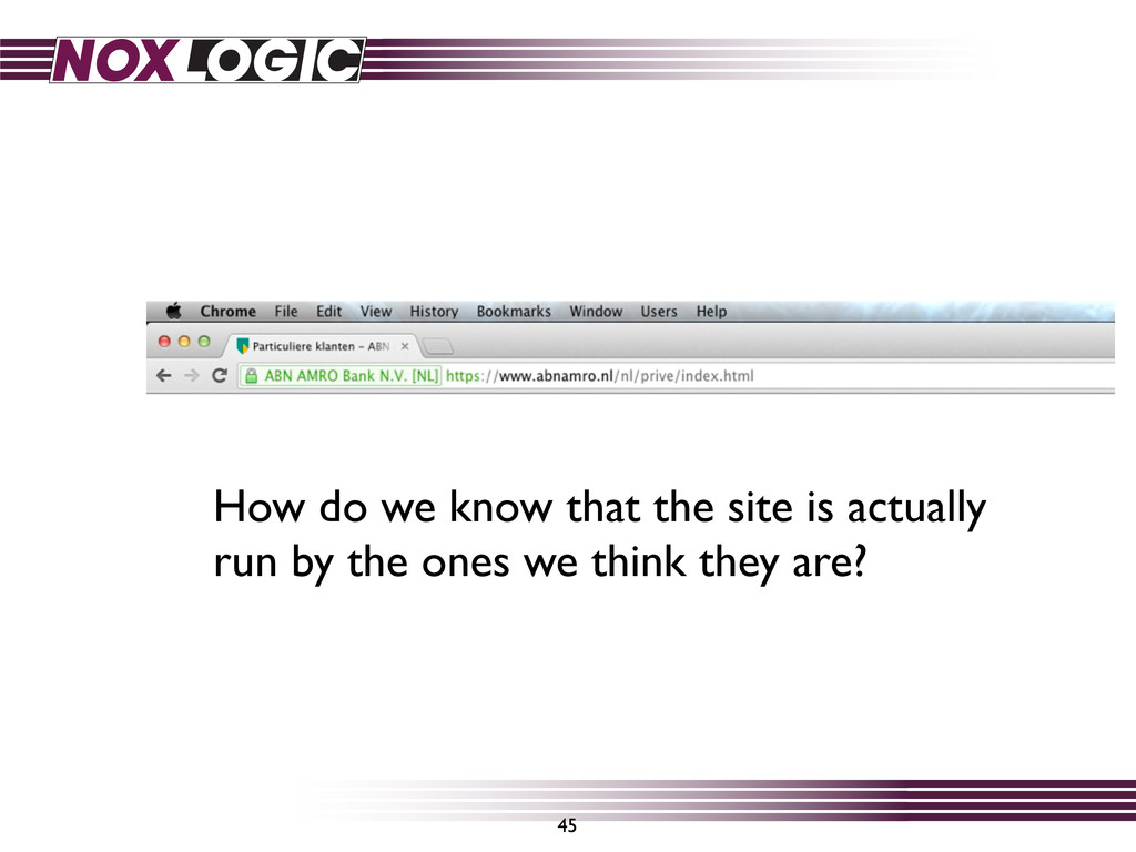 45 How do we know that the site is actually run...
