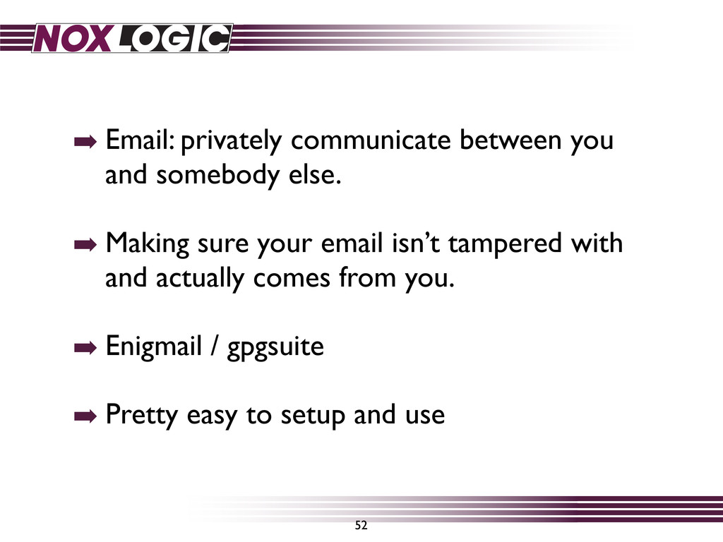 52 ➡ Email: privately communicate between you a...
