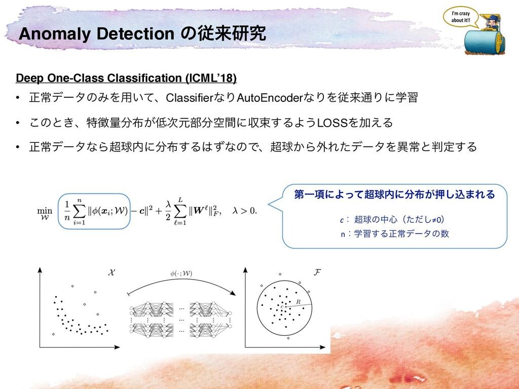 Anomaly Detection ͷैདྷݚڀ Deep One-Class Classifi...