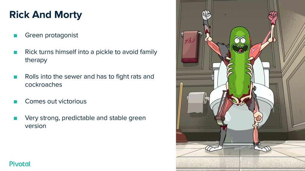 Rick And Morty ■ Green protagonist ■ Rick turns...