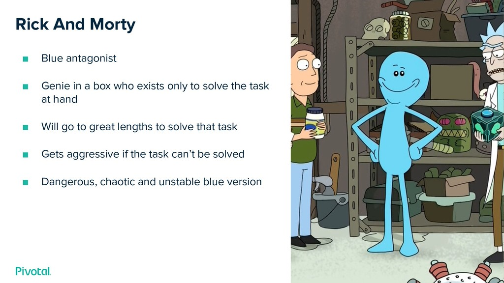 Rick And Morty ■ Blue antagonist ■ Genie in a b...