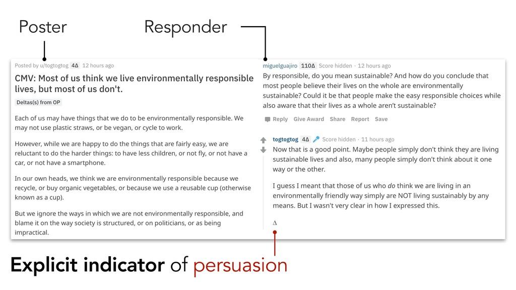 Poster Responder Explicit indicator of persuasi...