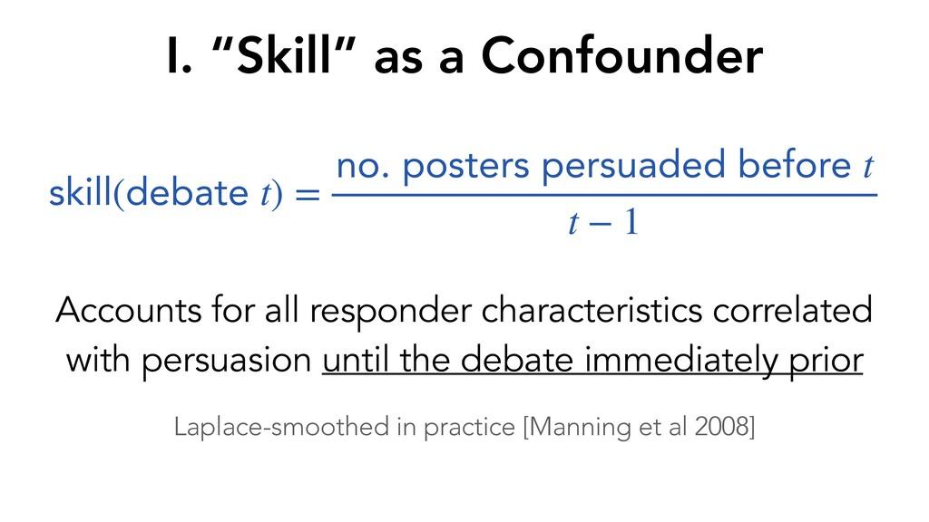 Accounts for all responder characteristics corr...