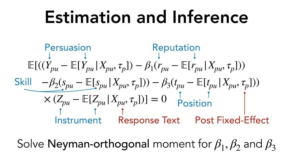 Estimation and Inference 𝔼[((Ypu − 𝔼[Ypu  Xpu ,...
