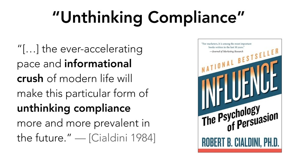 """""""Unthinking Compliance"""" """"[…] the ever-accelerat..."""