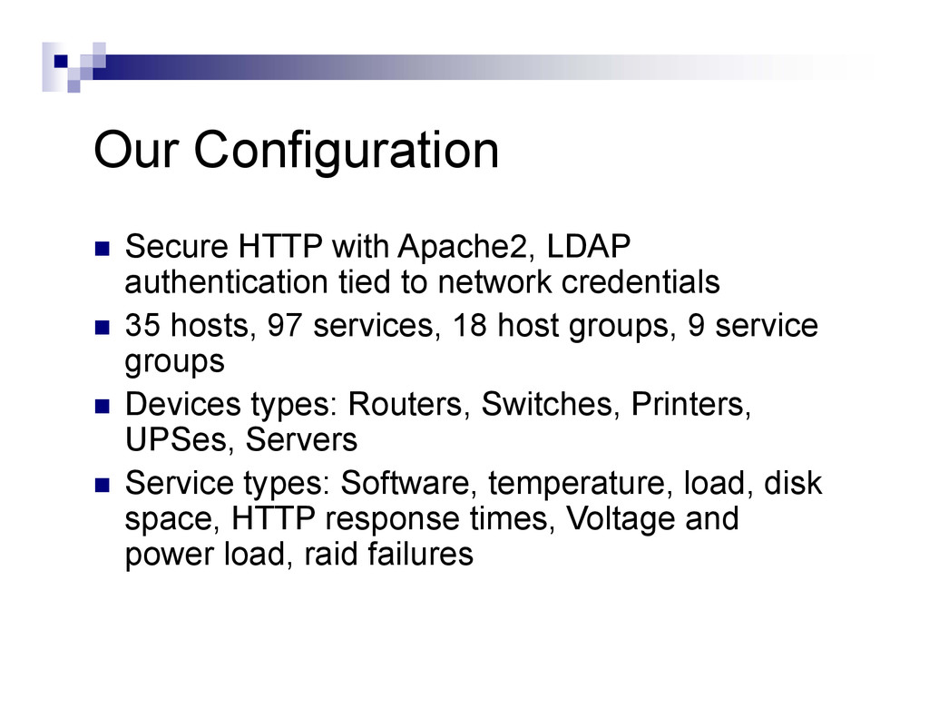 Our Configuration  Secure HTTP with Apache2, L...