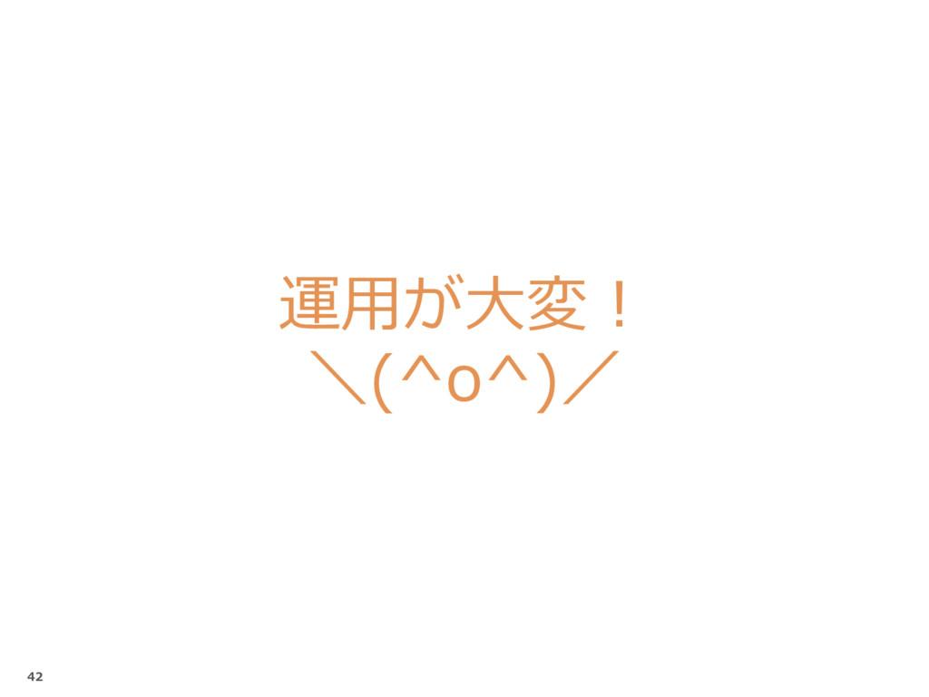 運用が大変! \(^o^)/ 42