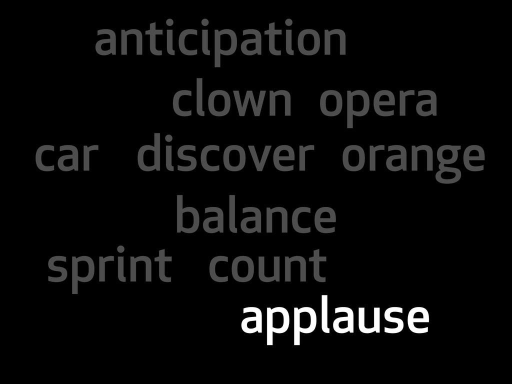 anticipation clown opera car discover orange ba...