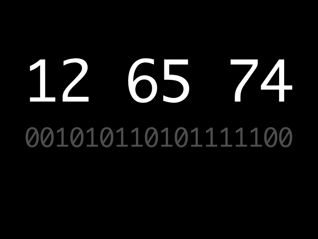 001010110101111100 12 65 74