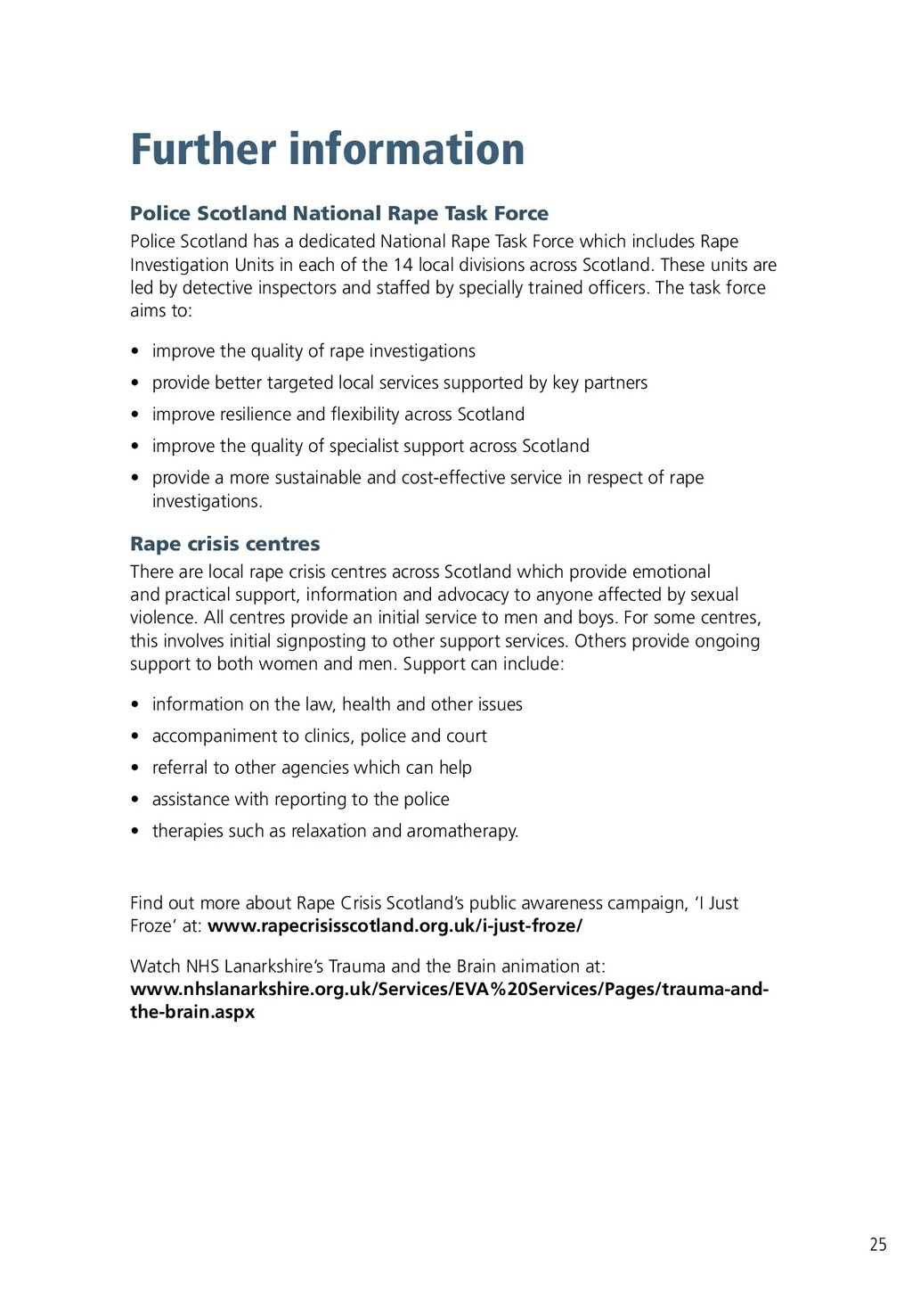 Further information Police Scotland National Ra...
