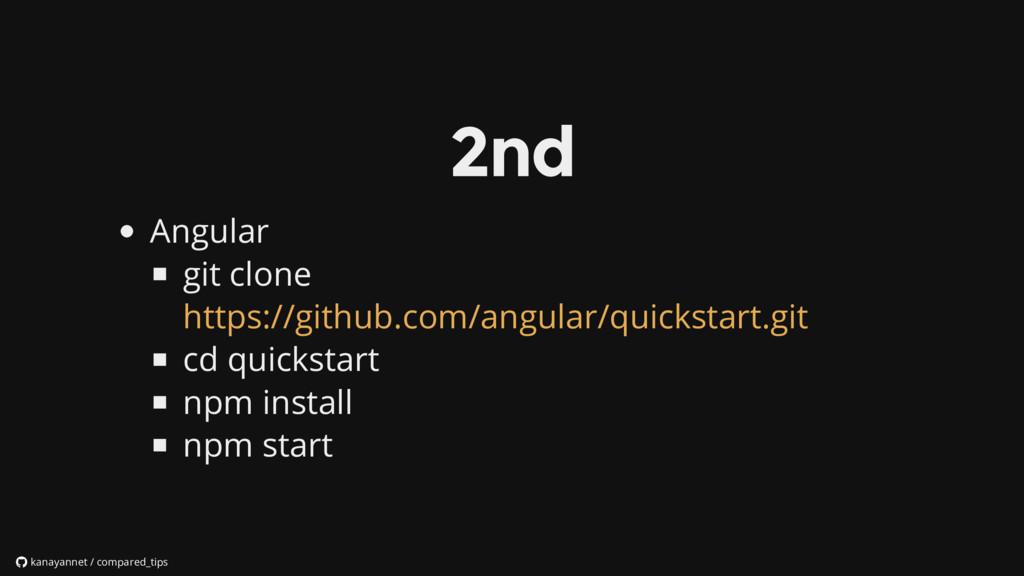 Angular git clone cd quickstart npm install npm...
