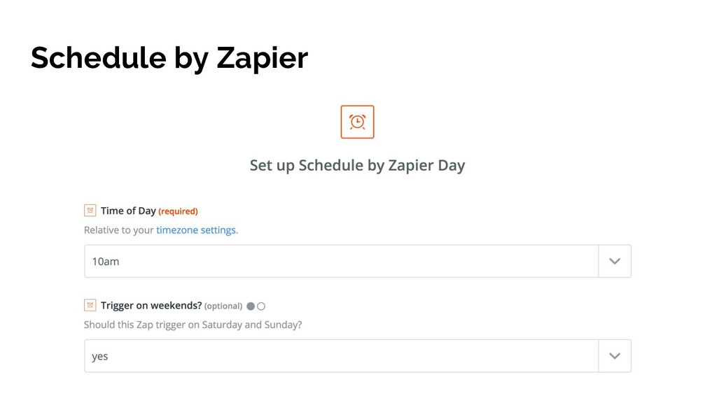 Schedule by Zapier