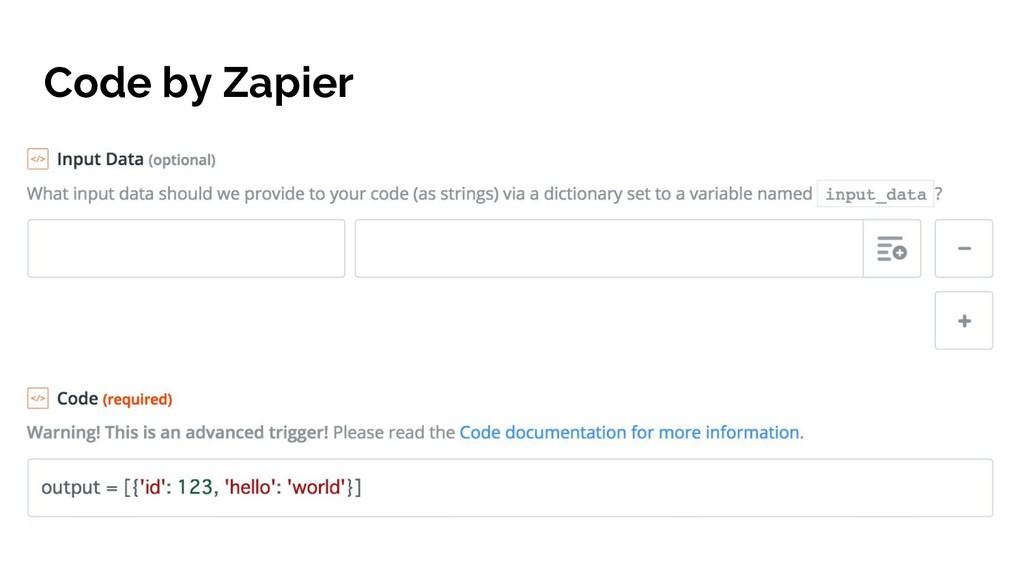 Code by Zapier