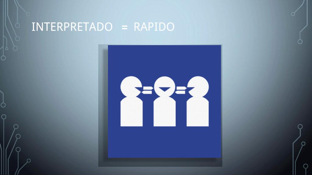 INTERPRETADO = RAPIDO