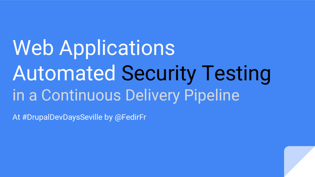 Web Applications Automated Security Testing in ...