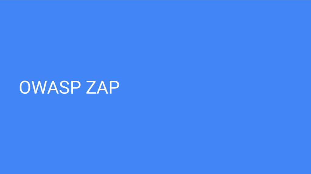 OWASP ZAP