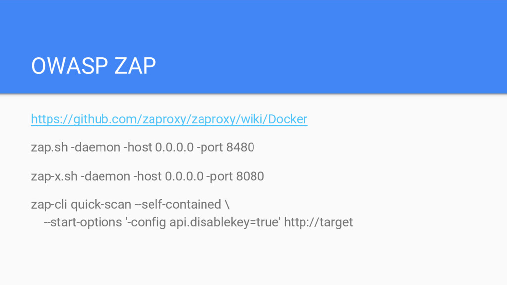 OWASP ZAP https://github.com/zaproxy/zaproxy/wi...