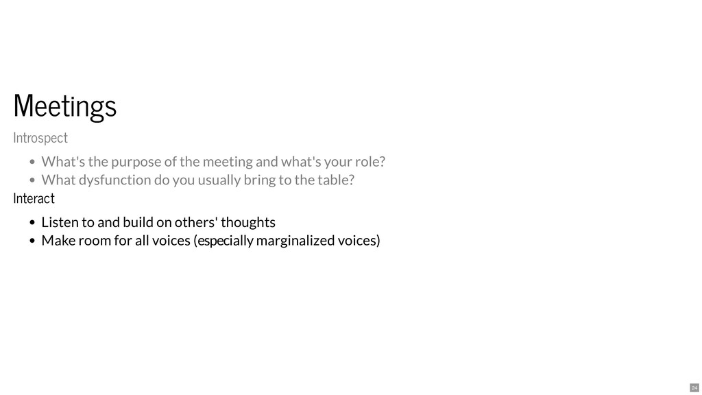 Meetings Meetings Interact Interact Listen to a...