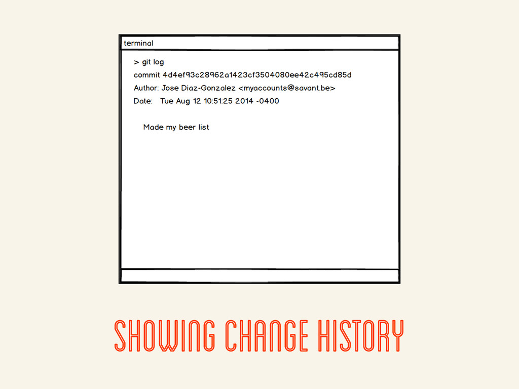 showing change history