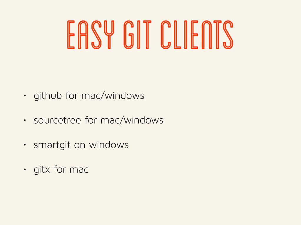 easy git clients • github for mac/windows • sou...