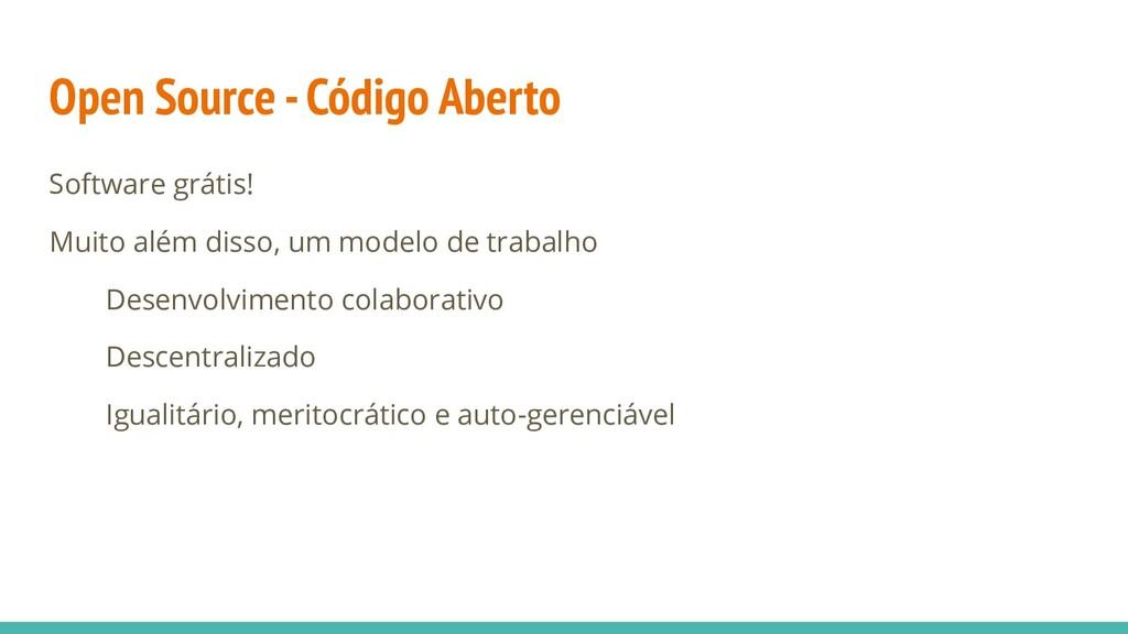 Open Source - Código Aberto Software grátis! Mu...