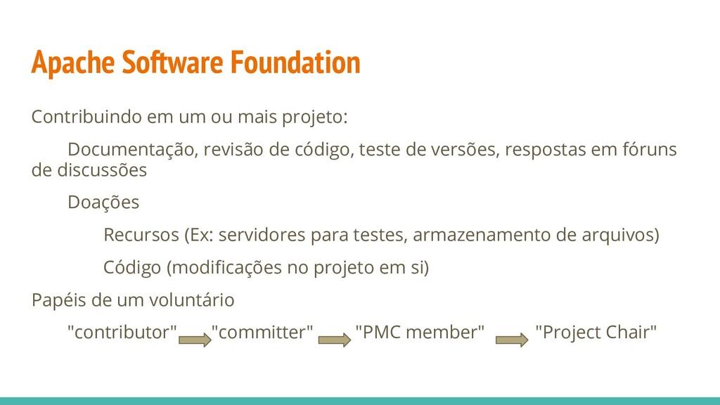 Apache Software Foundation Contribuindo em um o...