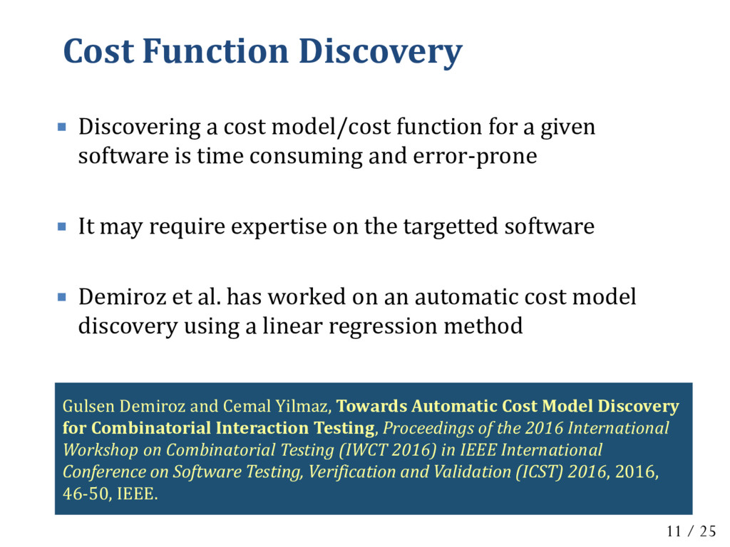 Cost Function Discovery  Discovering a cost mo...