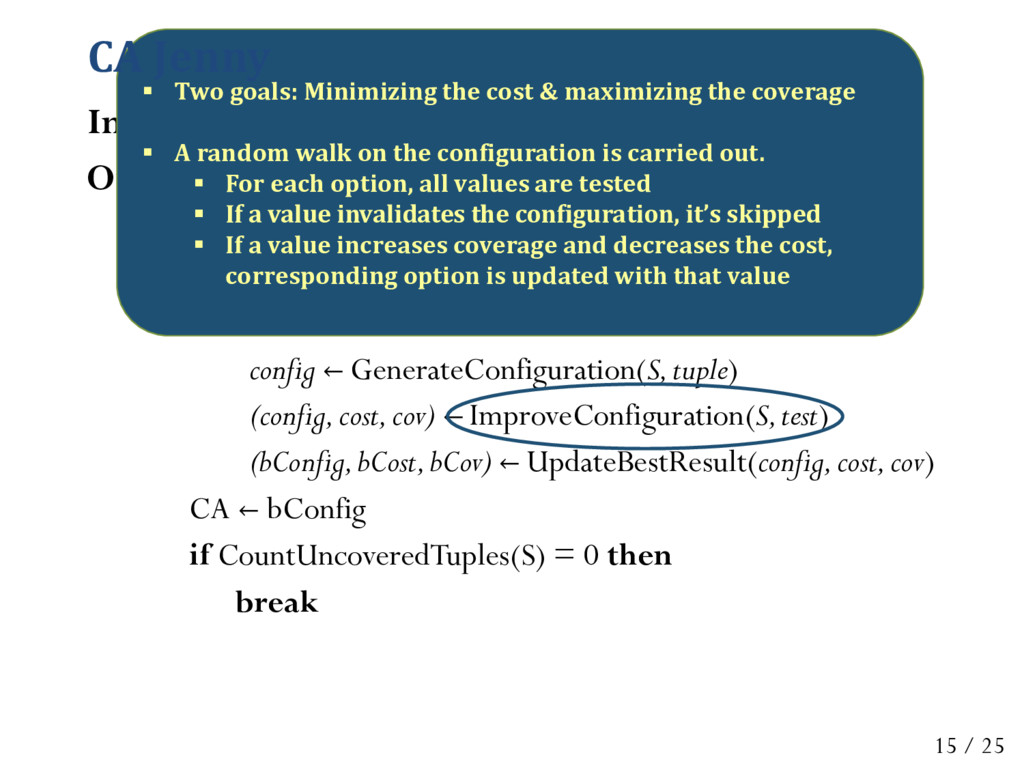 Input: S: configuration space, t: strength Outp...