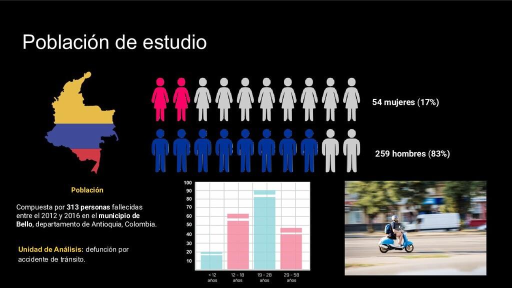 Población de estudio Unidad de Análisis: defunc...