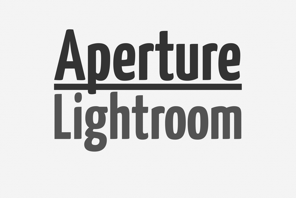 Lightroom Aperture