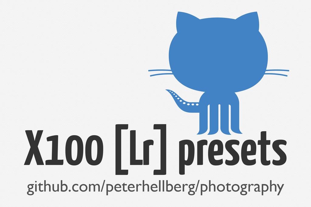 X100 [Lr] presets github.com/peterhellberg/phot...